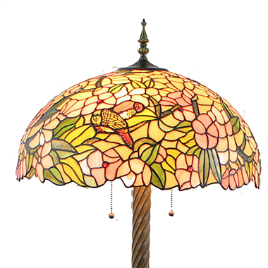 FL200109 20 inch Three lights Tiffany floor lamp stained glass floor lamp from China