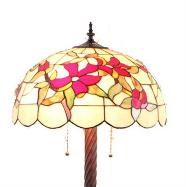 FL200108 20 inch Three lights Tiffany floor lamp stained glass floor lamp from China