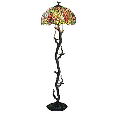 FL200105 20 inch Three lights Bird on tree base Tiffany floor lamp stained glass floor lamp from Chi