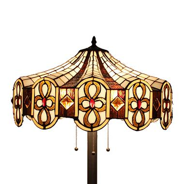 FL200104 20 inch Three lights Tiffany floor lamp stained glass floor lamp from China