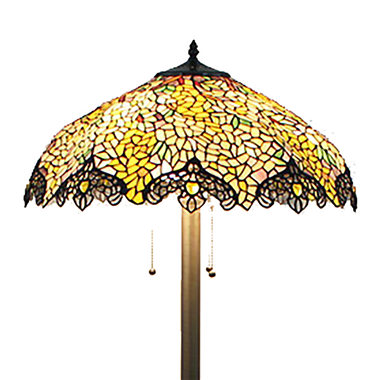 FL200102 20 inch Three lights Tiffany floor lamp stained glass floor lamp from China