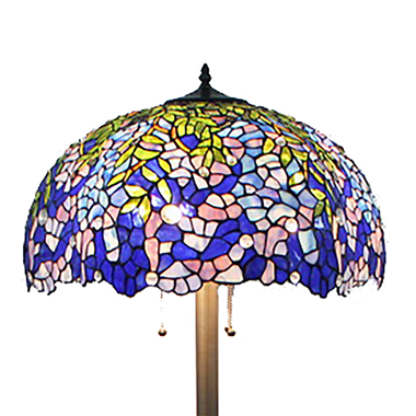 FL200101 20 inch Three lights Tiffany floor lamp stained glass floor lamp from China