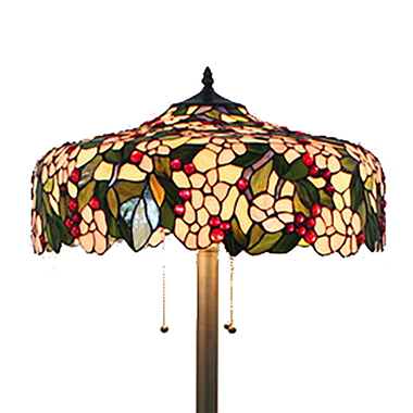 FL200100 20 inch Three lights Tiffany floor lamp stained glass floor lamp from China