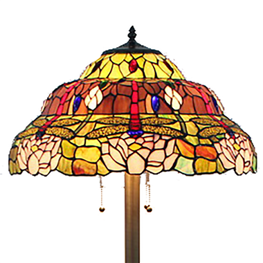 FL200099 20 inch Three lights Tiffany floor lamp stained glass floor lamp from China