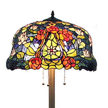 FL200097 20 inch Three lights Tiffany floor lamp stained glass floor lamp from China
