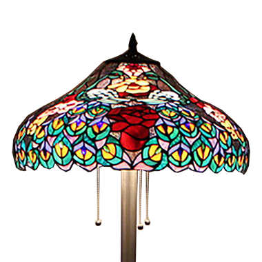 FL200096 20 inch Three lights Tiffany floor lamp stained glass floor lamp from China
