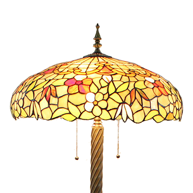 FL200095 20 inch Three lights Tiffany floor lamp stained glass floor lamp from China