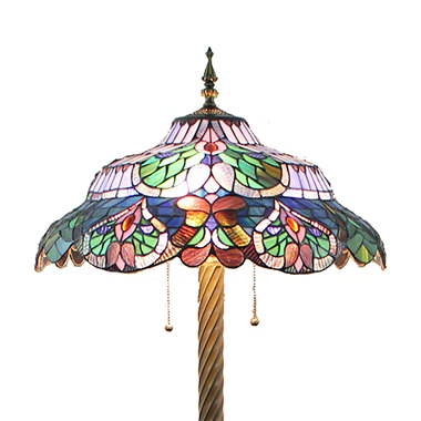FL200093 20 inch Three lights Tiffany floor lamp stained glass floor lamp from China