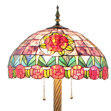 FL200092 20 inch Three lights Tiffany floor lamp stained glass floor lamp from China