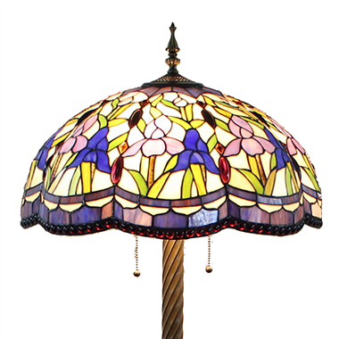 FL200089 20 inch Three lights Tiffany floor lamp stained glass floor lamp from China