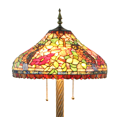 FL200087 20 inch Three lights Tiffany floor lamp stained glass floor lamp from China