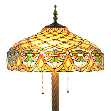 FL200086 20 inch Three lights Tiffany floor lamp stained glass floor lamp from China