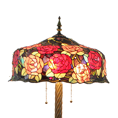 FL200085 20 inch Three lights Tiffany floor lamp stained glass floor lamp from China