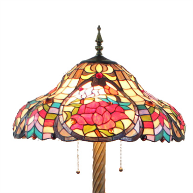 FL200084 20 inch Two lights Zinc alloy base Tiffany floor lamp stained glass floor lamp from China