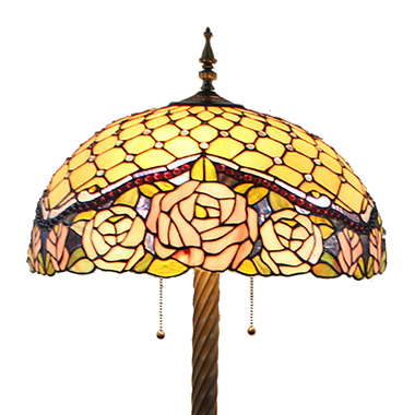 FL200083 20 inch Two lights Zinc alloy base Tiffany floor lamp stained glass floor lamp from China