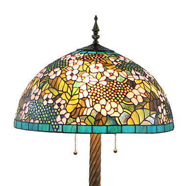 FL20081 20 inch Two lights Resin base Tiffany floor lamp stained glass floor lamp from China
