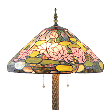 FL200080 20 inch Two lights Zinc alloy base Tiffany floor lamp stained glass floor lamp from China