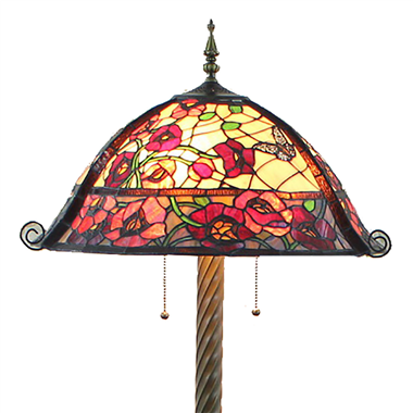 FL20079 20 inch Two lights Resin base Tiffany floor lamp stained glass floor lamp from China