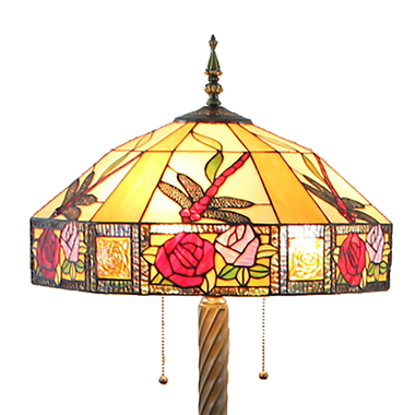 FL200075 20 inch Two lights Zinc alloy base Tiffany floor lamp stained glass floor lamp from China