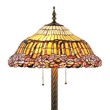 FL200070 20 inch Two lights Zinc alloy base Tiffany floor lamp stained glass floor lamp from China