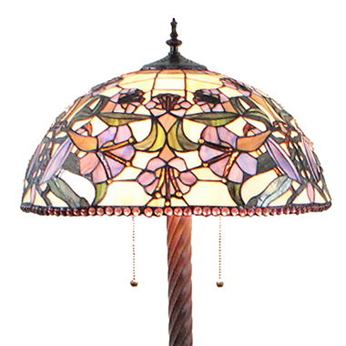 FL200067 20 inch Two lights Zinc alloy base Tiffany floor lamp stained glass floor lamp from China