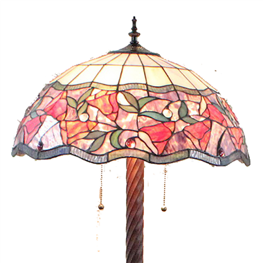 FL200066 20 inch Two lights Zinc alloy base Tiffany floor lamp stained glass floor lamp from China