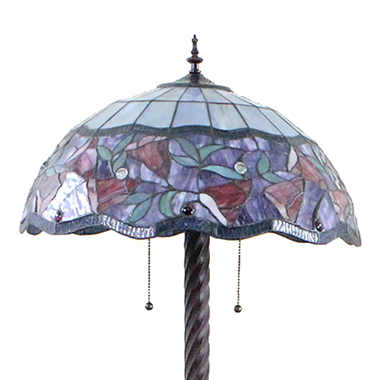 FL200065 20 inch Two lights Zinc alloy base Tiffany floor lamp stained glass floor lamp from China