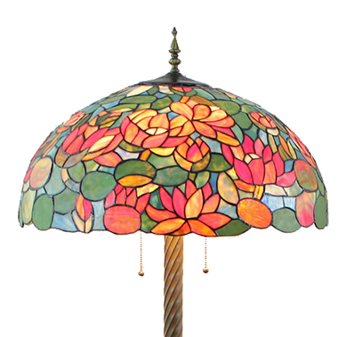 FL200064 20 inch Two lights Zinc alloy base Tiffany floor lamp stained glass floor lamp from China