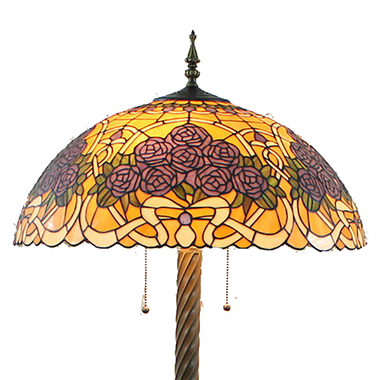 FL200062 20 inch Two lights Zinc alloy base Tiffany floor lamp stained glass floor lamp from China