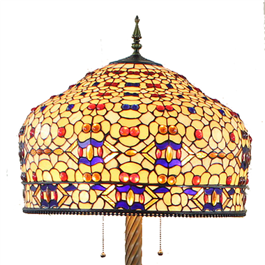 FL200061 20 inch Two lights Zinc alloy base Tiffany floor lamp stained glass floor lamp from China