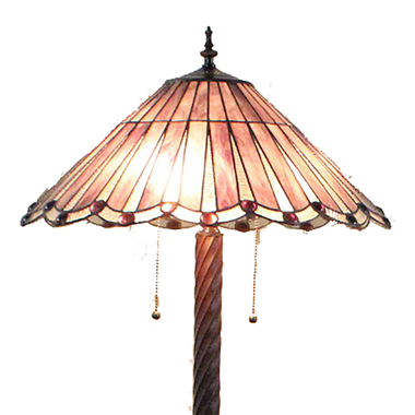 FL200058 20 inch Two lights Zinc alloy base Tiffany floor lamp stained glass floor lamp from China