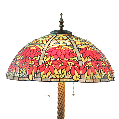 FL200052 20 inch Two lights Zinc alloy base Tiffany floor lamp stained glass floor lamp from China
