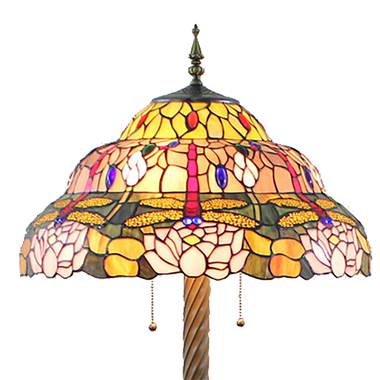 FL200050 20 inch Two lights Zinc alloy base Tiffany floor lamp stained glass floor lamp from China