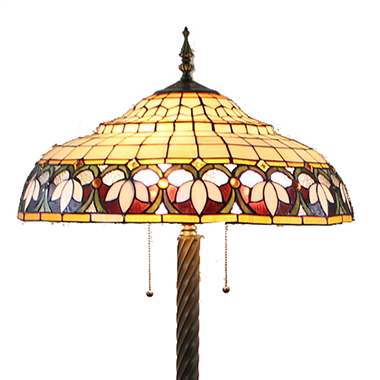 FL200049 20 inch Two lights Zinc alloy base Tiffany floor lamp stained glass floor lamp from China