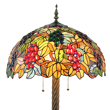 FL200048 20 inch Two lights Zinc alloy base Tiffany floor lamp stained glass floor lamp from China