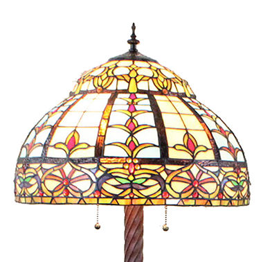 FL200046 20 inch Two lights Zinc alloy base Tiffany floor lamp stained glass floor lamp from China