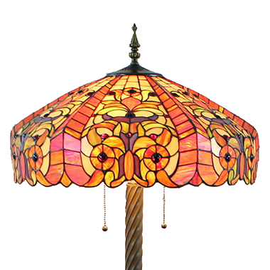 FL200045 20 inch Two lights Zinc alloy base Tiffany floor lamp stained glass floor lamp from China