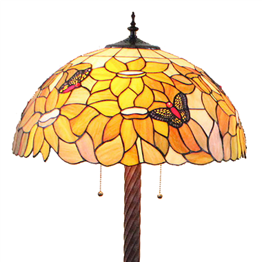 FL200035 20 inch Two lights Zinc alloy base Tiffany floor lamp stained glass floor lamp from China