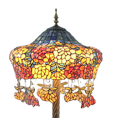 FL200033 20 inch Two lights Zinc alloy base Tiffany floor lamp stained glass floor lamp from China