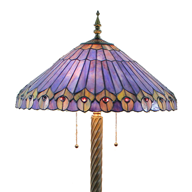 FL200032 20 inch Two lights Zinc alloy base Tiffany floor lamp stained glass floor lamp from China