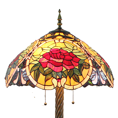 FL200030 20 inch Two lights Zinc alloy base Tiffany floor lamp stained glass floor lamp from China