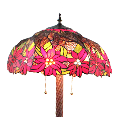 FL200022 20 inch Two lights Zinc alloy base Tiffany floor lamp stained glass floor lamp from China