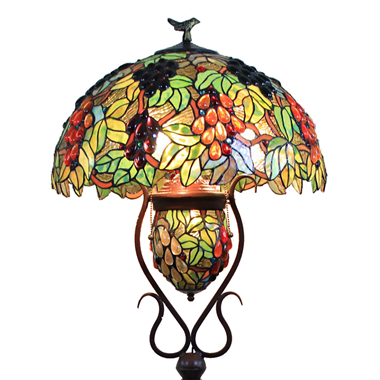 FL200018 20 inch Two lights Zinc alloy base Tiffany floor lamp stained glass floor lamp from China