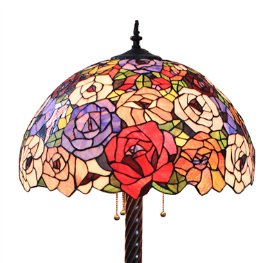 FL200012 20 inch Two lights Zinc alloy base Tiffany floor lamp stained glass floor lamp from China