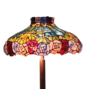 FL200010 20 inch Two lights Zinc alloy base Tiffany floor lamp stained glass floor lamp from China