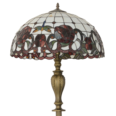 FL200002 20 inch Two lights Zinc alloy base Tiffany floor lamp stained glass floor lamp from China