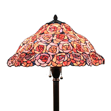 FL180019 18 inch Two lights Zinc alloy base Tiffany floor lamp stained glass floor lamp from China18