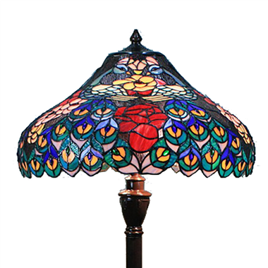 FL180018 18 inch Two lights Zinc alloy base Tiffany floor lamp stained glass floor lamp from China18