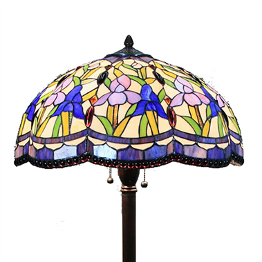 FL180017 18 inch Two lights Zinc alloy base Tiffany floor lamp stained glass floor lamp from China18