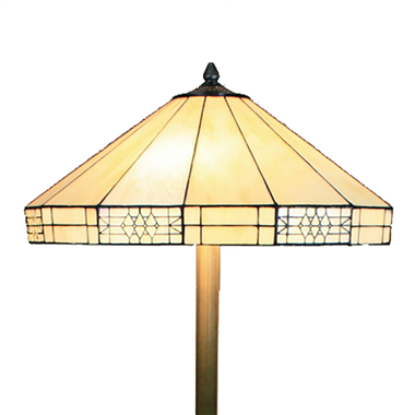 FL180014 18 inch Two lights resin base  Tiffany floor lamp stained glass floor lamp from China18